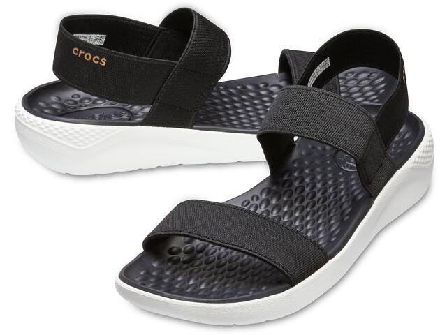 Crocs LiteRide Sandalen Dames, black/white